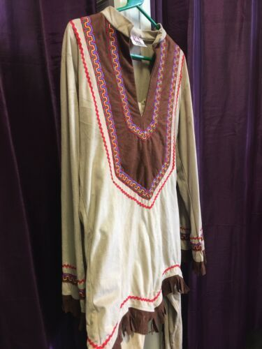 Deluxe Gents Indian Brave Costume 46""