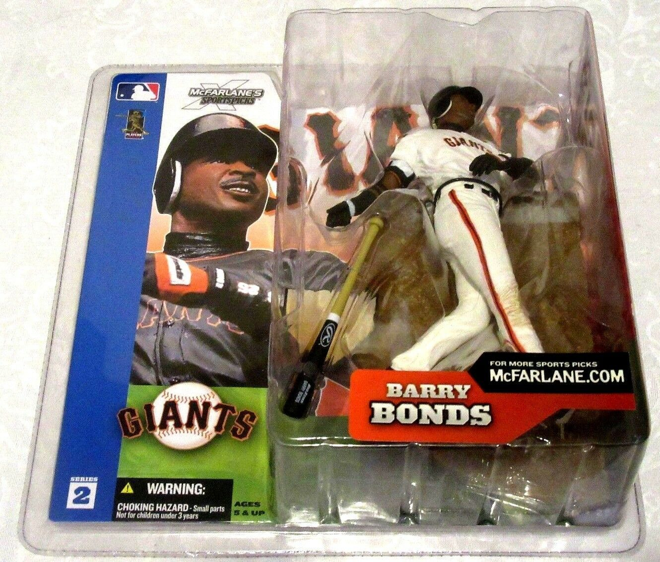 Barry Bonds Series 2 2002 McFarlane San Francisco Giants Outfield Figure-New!