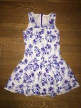 * the Childrens Place blue purple white floral fancy dress medium 8  - $11.04