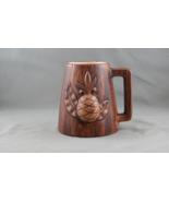 Teasure Craft Hawaii Beer Mug - Molded Pineapple (1969) - Brown Ceramic  - $45.00