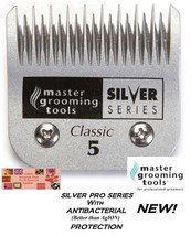 ANTIMICROBIAL A5 SILVER 5 SKIP BLADE Fit Many Andis,Oster Pet Grooming C... - $30.86