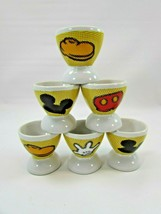 6 Walt Disney Mickey Mouse Saki Egg Cup Set Paris Resort 32282 - $118.79
