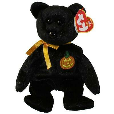 Primary image for Haunt the Black Bear with Pumpkin Patch Ty Beanie Baby Retired MWMT Halloween