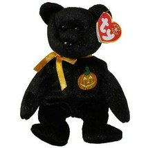 Haunt the Black Bear with Pumpkin Patch Ty Beanie Baby Retired MWMT Hall... - $8.86
