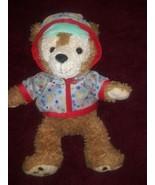 Nascosto Mickey Duffy Disney Assonnato Orso con Camicia Beige Peluche - $26.61