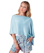 Simply Noelle button wrap scarf shawl pretty summer spring colors (Cotto... - $24.99