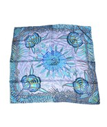 """Hermes Scarf Flowers of South Africa Silk 90 cm Blue yellow 35"""" Carre RA24 - $443.52"""