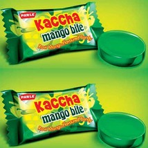 Parle Kaccha Mango Bite toffee Indian Raw Mango Flavor Candy 100 Pcs - $10.88