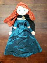 "Disney Store 20"" Merida Plush Rag Doll Brave Princess - $14.50"