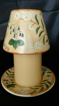 Yankee Candle Mini Candle Topper Shade And Plate - Peach And Green Floral - $12.99