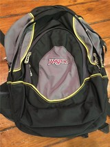 JanSport All Purpose Backpack Grey/Black, Yellow 3 Sections - $30.00
