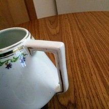 Myott.Son & Co England Porcelain White Gold Trim Green Scrolls Creamer    image 5