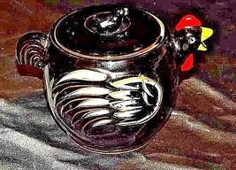 Chicken Tea PotAA18-1228Vintage Black with Design
