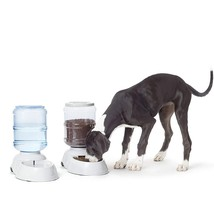 Self-Dispensing Gravity Pet Feeder and Waterer Small / Large Size - $20.78+