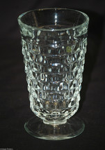 Old Vintage Iced Tea Tumbler Whitehall Clear by Colony Flare Pattern Cube Design - $14.84