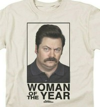 Woman of the Year Comedy T-shirt Parks and Recreation graphic tee NBC117 image 2