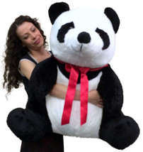 American Made Giant Stuffed Panda 32 Inch Huge Soft Plush Bear Made in U... - $97.11
