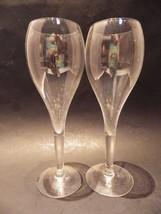 "(2) Tall Champagne Tulips Wedding Toast Toasting Hollow Stem 8.75"" Vinta... - $29.69"