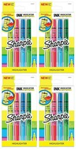 Lot 4 Sharpie Multi-Color Ink Indicator Narrow Chisel Highlighter Stick Markers