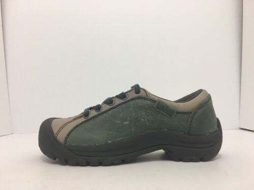 Keen Briggs Green Tan Leather Women's Lace Up Comfort Walking Shoes Size 5 M image 4
