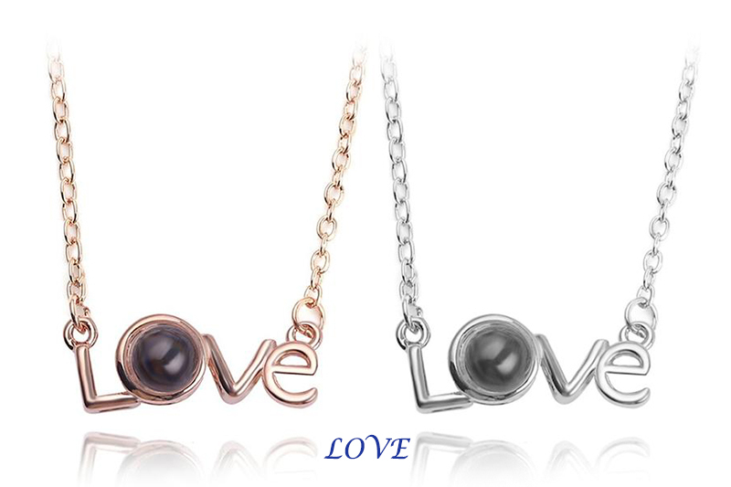 "XUFAN Romantic Projection (""I Love You"") Ladies Pendant - Various Styles, CZ image 12"