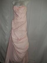 Size 8 Pink David's Bridal Nylon, Netting,Satin Wedding Bridemaids Dress  - $89.09