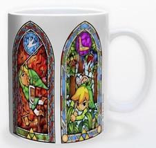 Legend of Zelda Stained Glass Panels 11oz Gamer Coffee Mug Licensed Nint... - $15.83