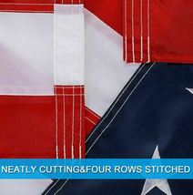 3'x5' Betsy Flags United States Flags Brass Grommets Nylon Sewn Embroidered SEAL image 5