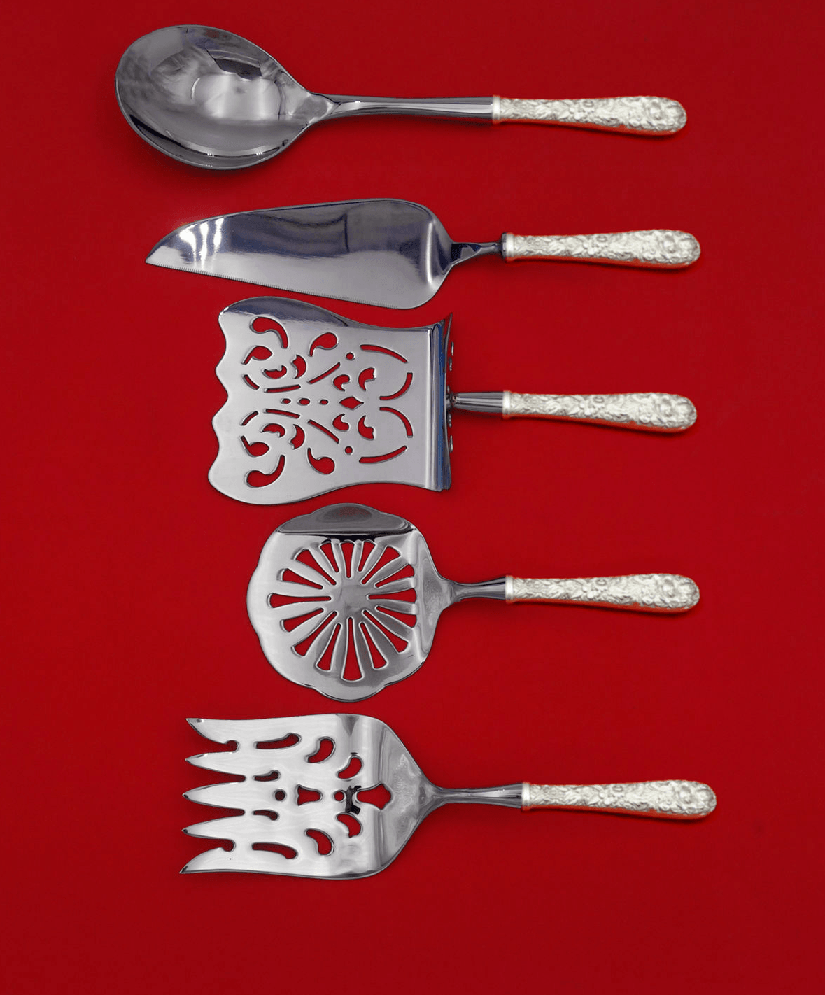 Primary image for Repousse by Kirk Sterling Silver Brunch Serving Set 5-Piece HH WS Custom Made