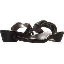 Marc Fisher Amina2 Thong Flip Flop Sandals 158, Black Multi, 7 US - $18.22