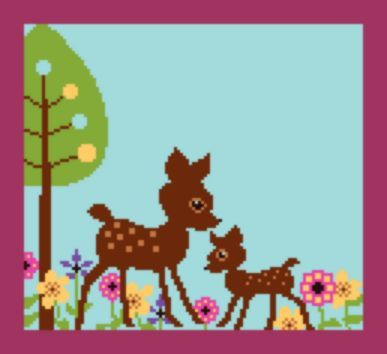 Primary image for Latch Hook Rug Pattern Chart: Cindy's DEER - EMAIL2u