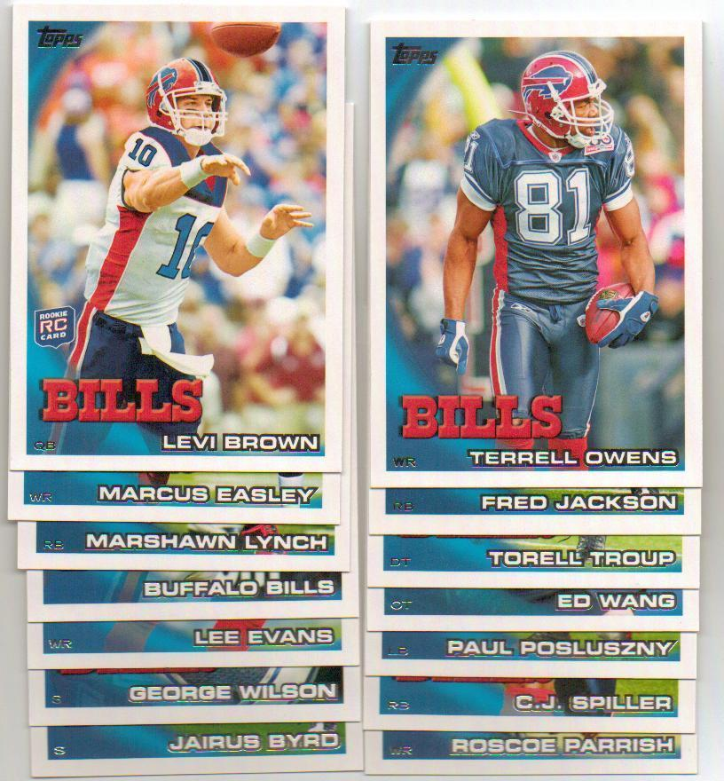 2010 Topps Buffalo Bills Football Set
