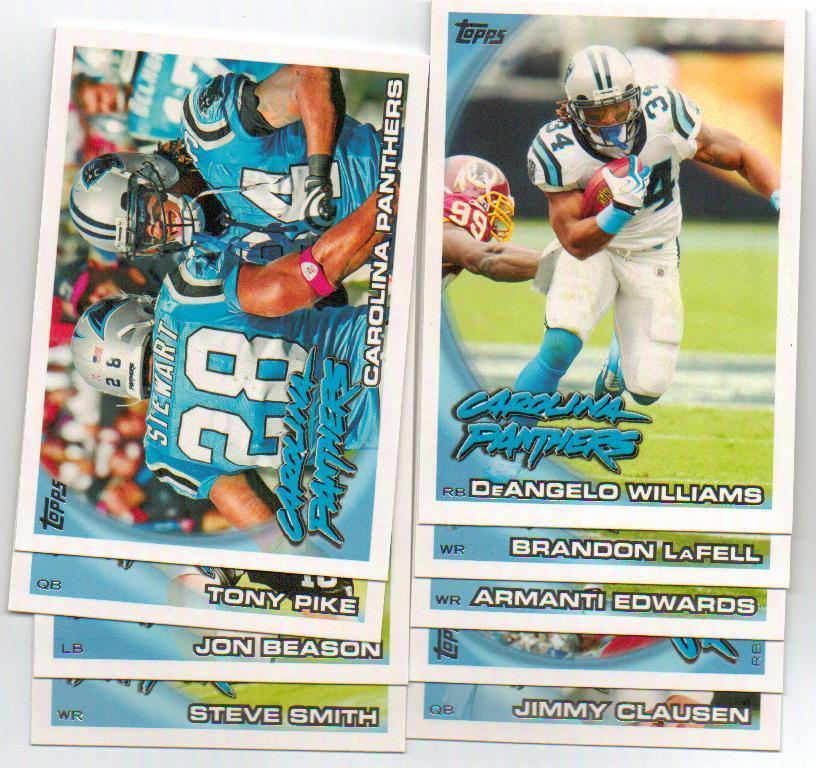 2010 Topps Carolina Panthers Football Set