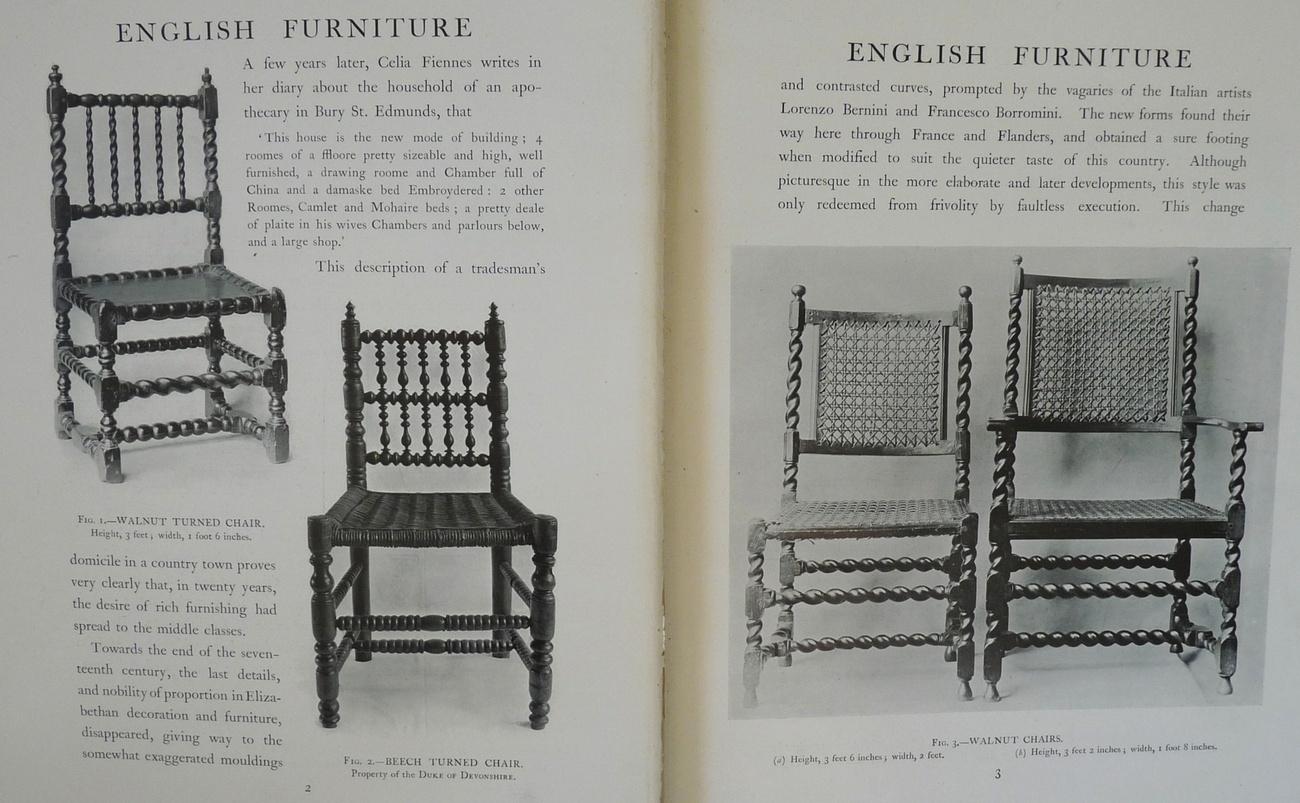 History English Furniture Age Walnut book Macquoid 1905 color