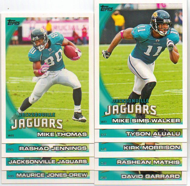 2010 Topps Jacksonville Jaguars Football Set