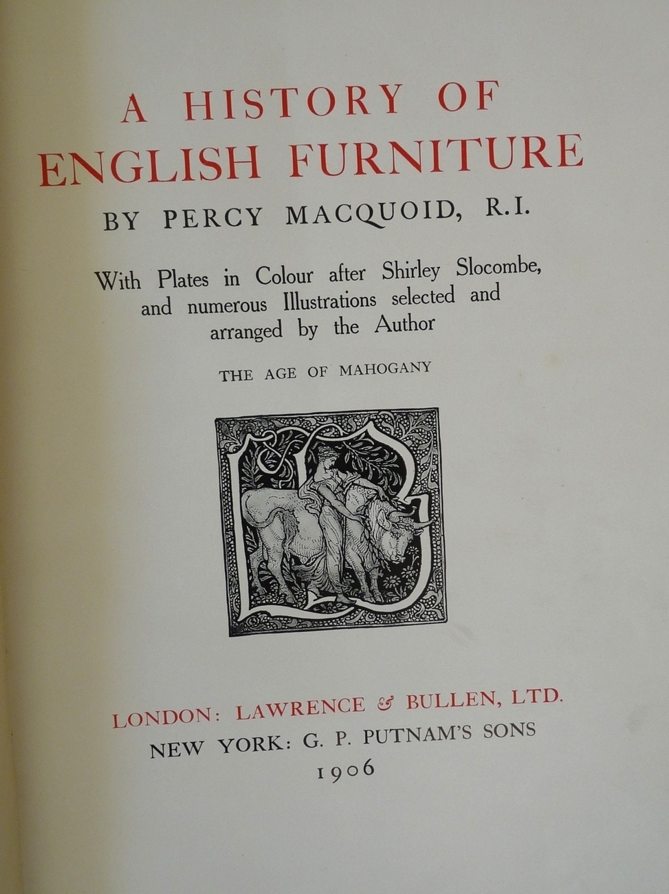 History English Furniture Age Mahogany book Macquoid 1906 co