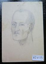 Antique Drawing On Postcard Deductible Forces Repubblicane Portrait Male... - $33.39