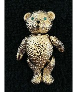 "Vintage Napier Jointed Teddy Bear Pin Brooch 1 5/8"" - $39.11"