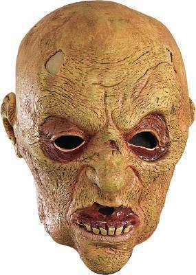Adult Zombie Costume Mask 3/4 Vinyl NEW Rubies Halloween Mask