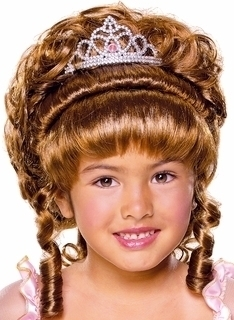 Fairytale Princess Costume Wig Copper Child Wig NEW