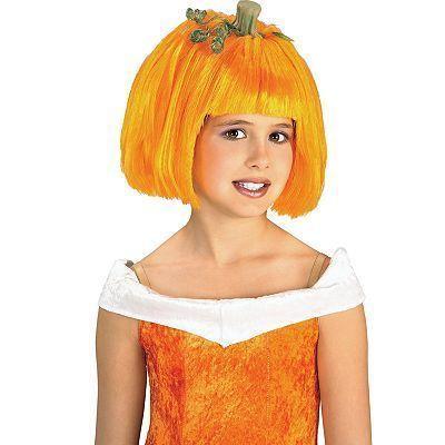 Rubies Pumpkin Spice Child Costume Wig NEW Orange