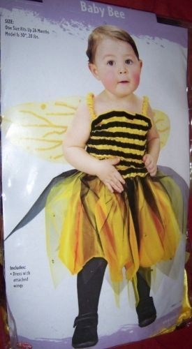 Baby Bee Infant Costume Up to 24 Months NEW Wings