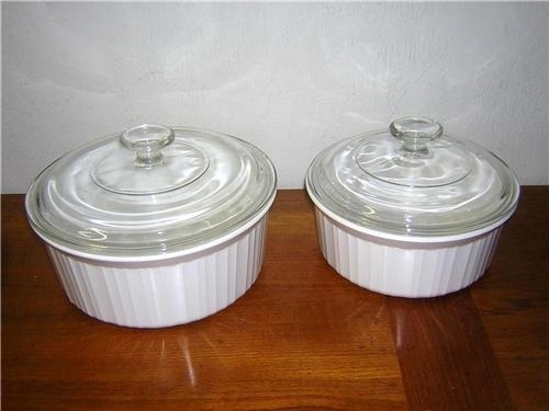 Primary image for Corning Ware French White 4-piece Set Round Pyroceram