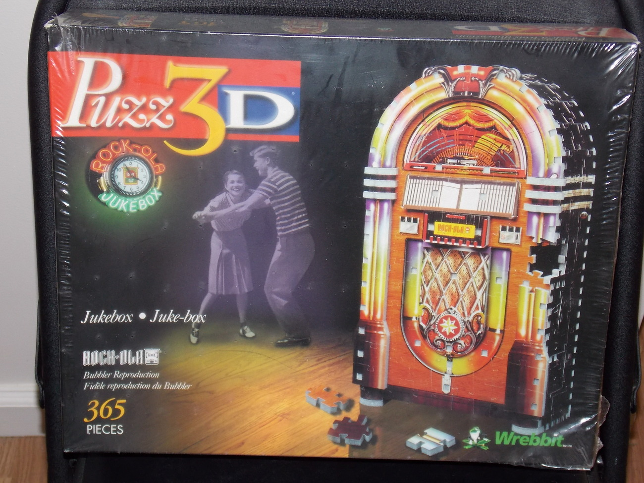 Primary image for 1999 Wrebbit Rock-Ola Jukebox 365 Piece 3D Puzzle New In Th Box