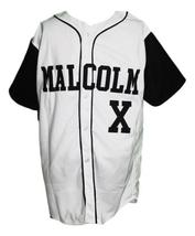 Malcolm X Baseball Jersey Button Down White & Black Any Size image 1