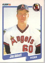 1990 Fleer Jim Abbott Rookie Baseball Card - $6.99