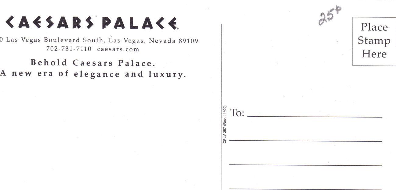 CAESARS PALACE Las Vegas Postcard, New