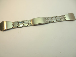 VINTAGE 18MM STAINLESS STEEL WATCH BAND WITH SOLID END LINKS - $120.94