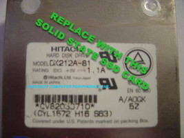 "SSD HITACHI DK212A-81 Replace with this SSD 1GB 2.5"" 44 PIN IDE SSD Card"
