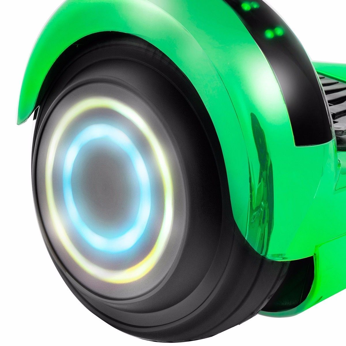Flash Chrome Green Bluetooth Hoverboard Two Wheel Balance Scooter UL2272